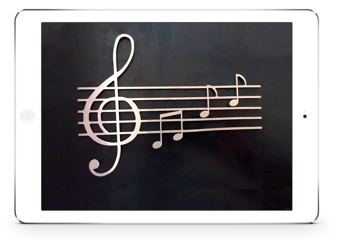 Scritta per barca in acciaio inox chiave di violino