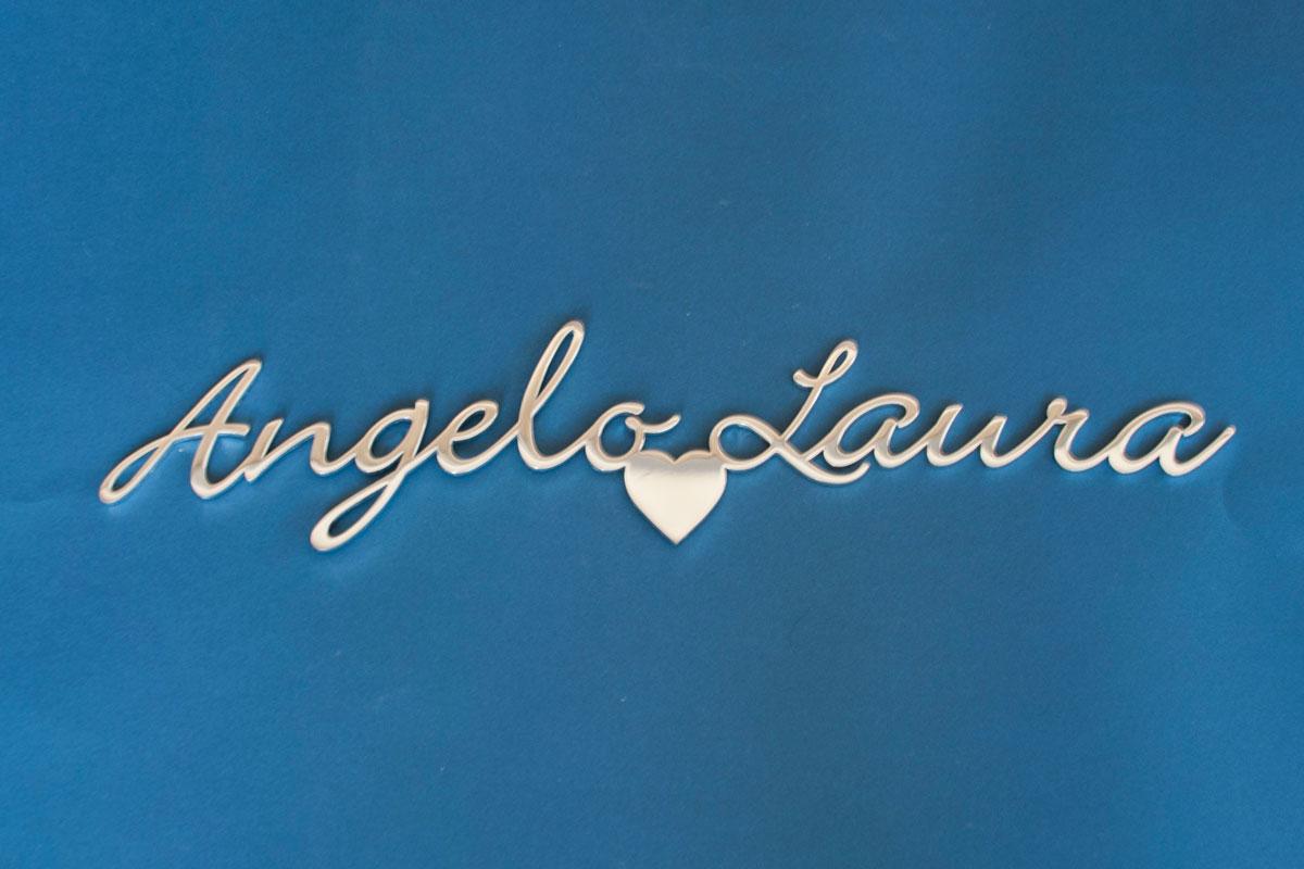 Prodotti scritte e loghi in acciaio inox angelo laura