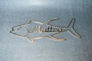 Prodotti scritte e loghi in acciaio inox matteo