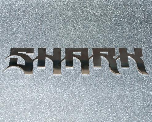 Prodotti scritte e loghi in acciaio inox sharrk