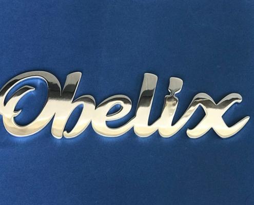 Prodotti scritte in acciaio inox obelix