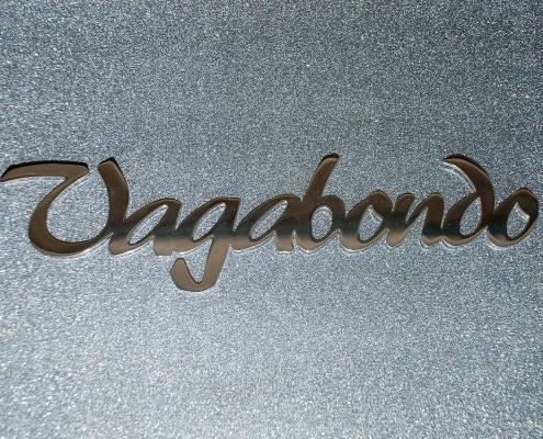 Prodotti scritte e loghi in acciaio inox vagabondo