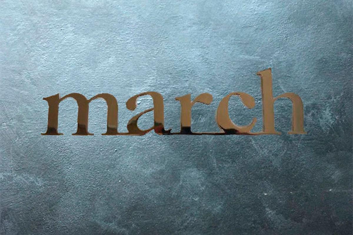 Prodotti scritte e loghi in acciaio inox march