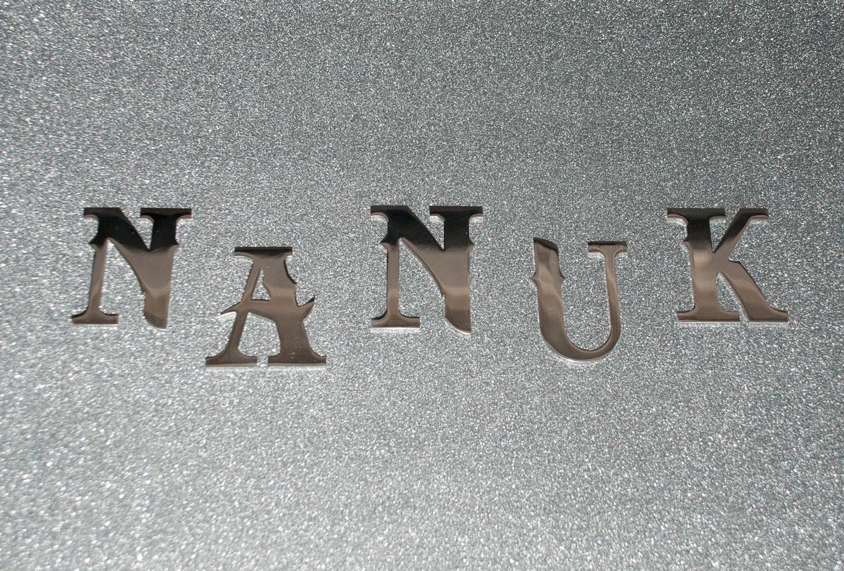 Prodotti scritte e loghi in acciaio inox nanuk
