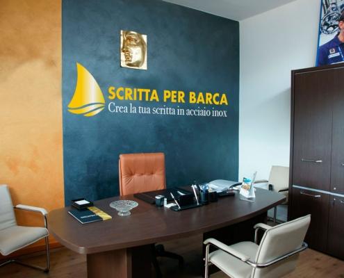ufficio scritta per barca in acciaio inox