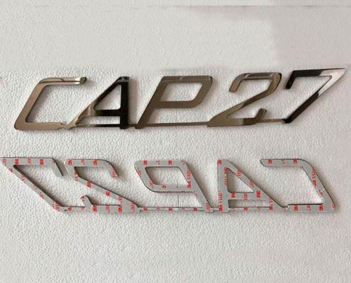 Scritta per barca in acciaio inox lettera cap27