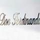 Scritta per barca in acciaio inox Don Ferdinando