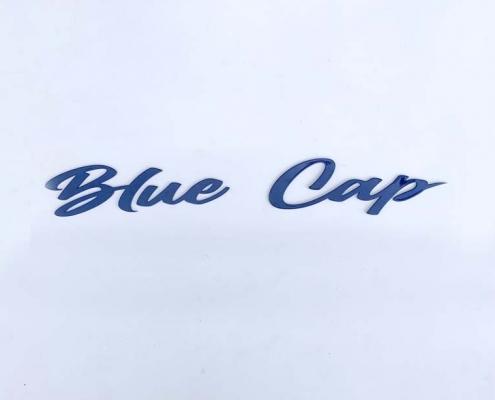 Scritta per barca in acciaio inox BLUE CUP