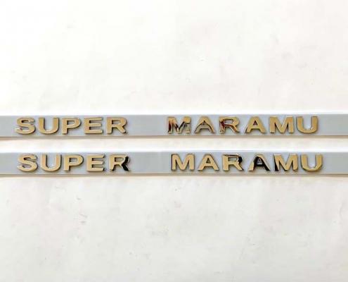 Scritta per barca in acciaio inox SUPER MARAMU
