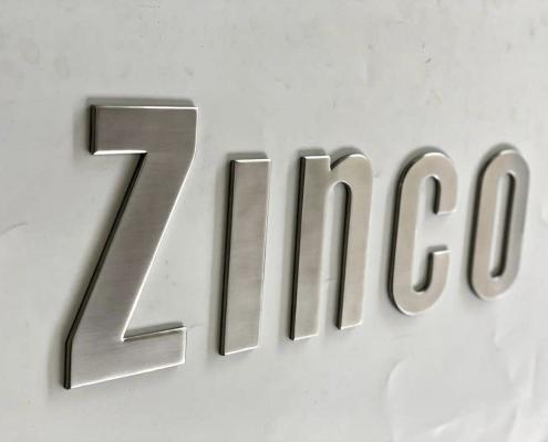 Scritta per barca in acciaio inox ZINCO